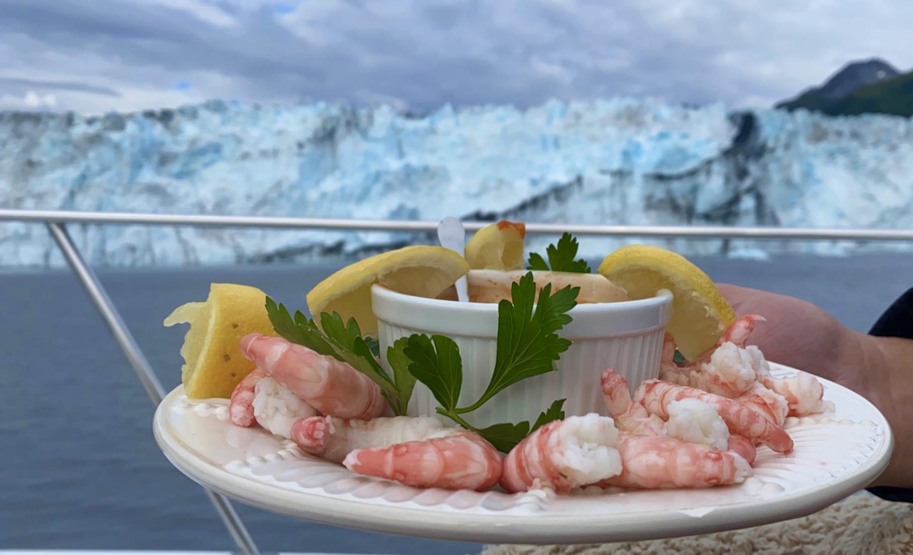 Shrimp And Glacier